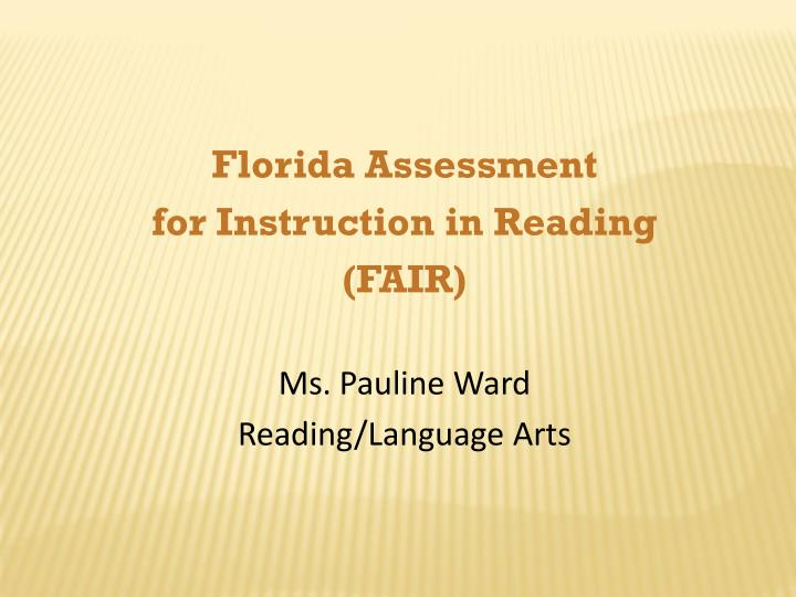 Florida Assessment