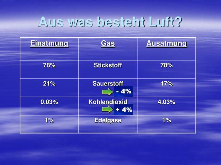 Aus was besteht Luft?