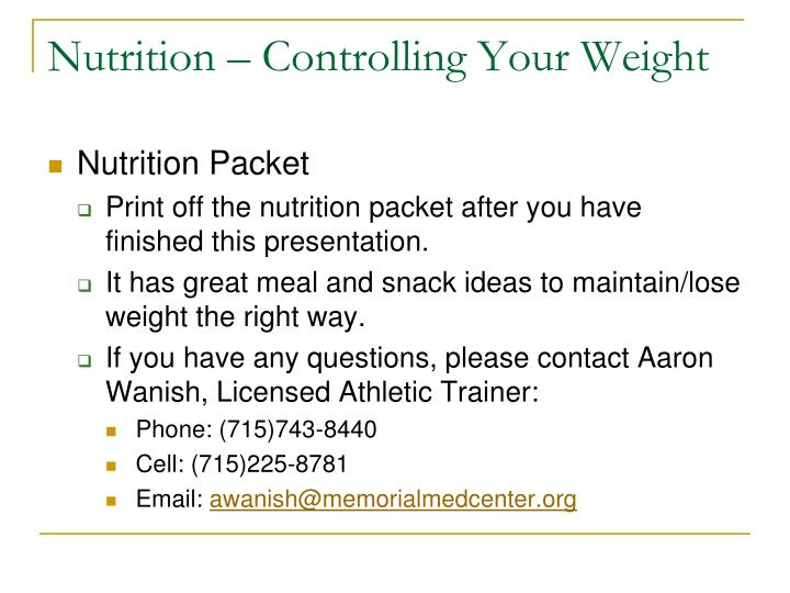 start from 10 per month basics of nutrition powerpoint presentation