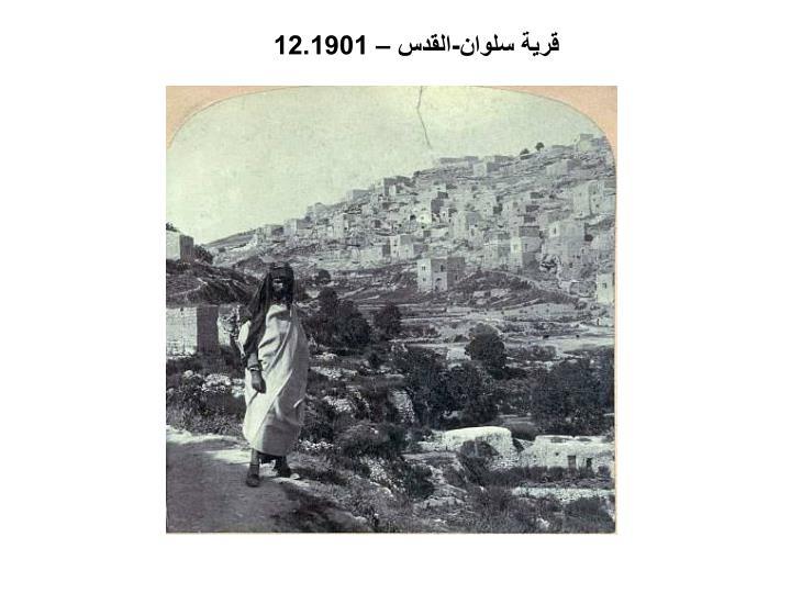 قرية سلوان-القدس