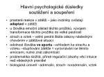 hlavn psychologick d sledky sout en a soupe en