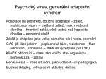 psychick stres gener ln adapta n syndrom