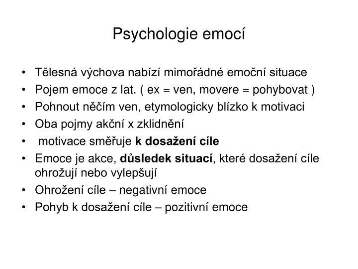 Psychologie emocí