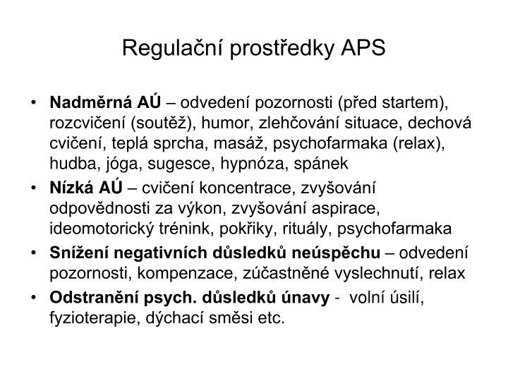 Regulační prostředky APS