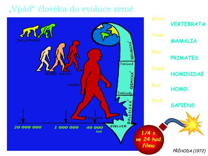 """""""Vpád"""" člověka do evoluce země"""