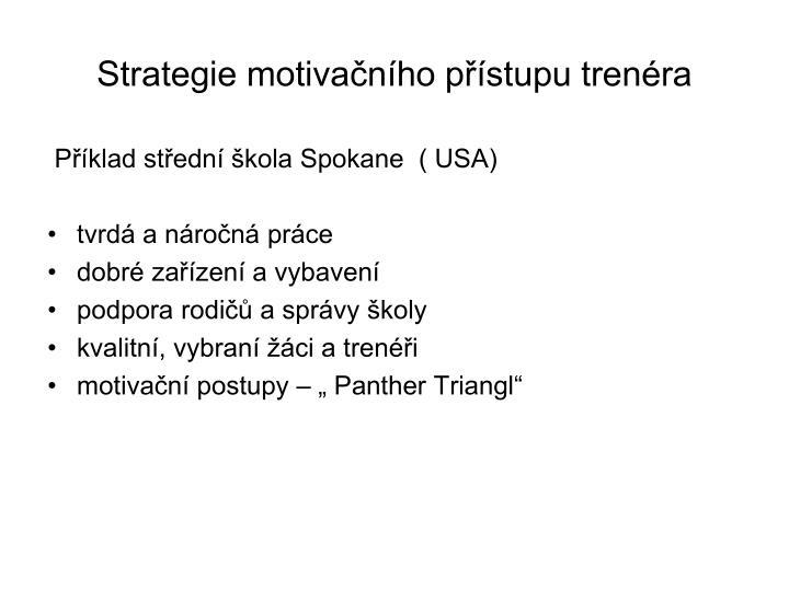 Strategie motivačního přístupu trenéra