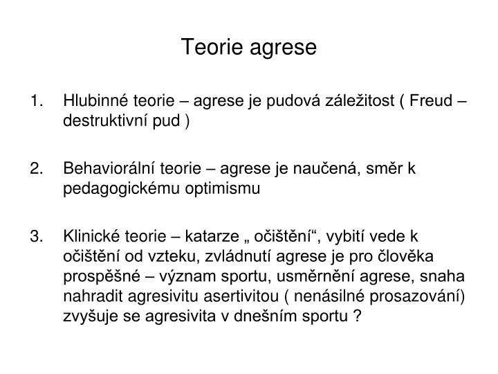 Teorie agrese