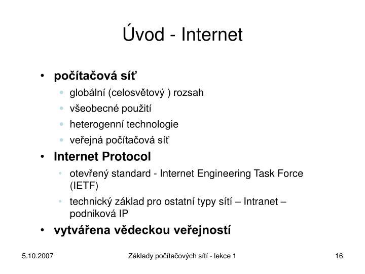 Úvod - Internet