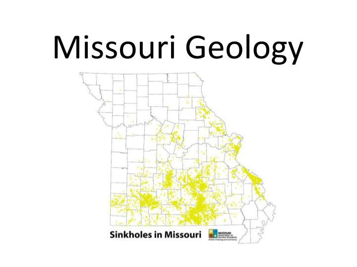 Missouri geology