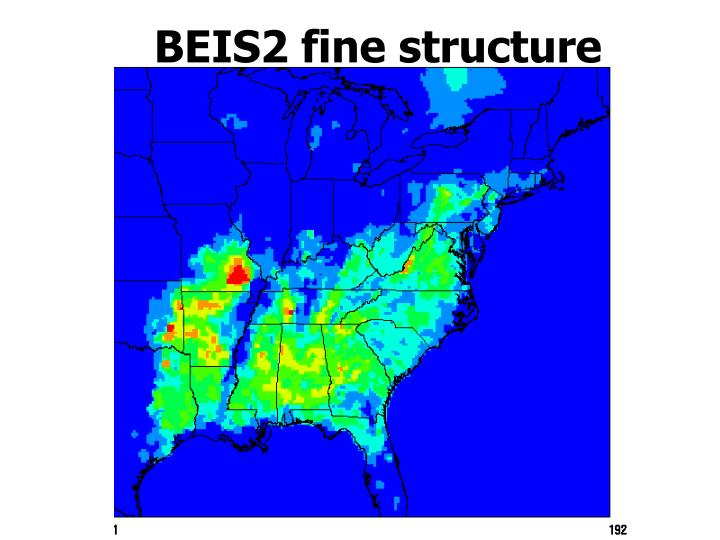 BEIS2 fine structure