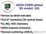 geos chem global 3d model 101