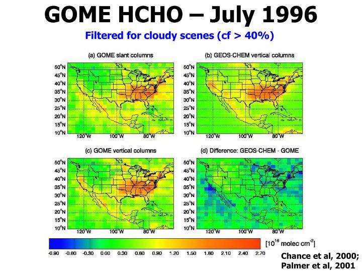 GOME HCHO – July 1996