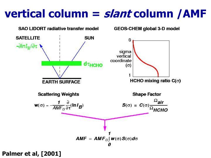 vertical column =