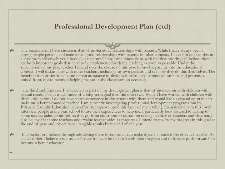 Professional Development Plan (