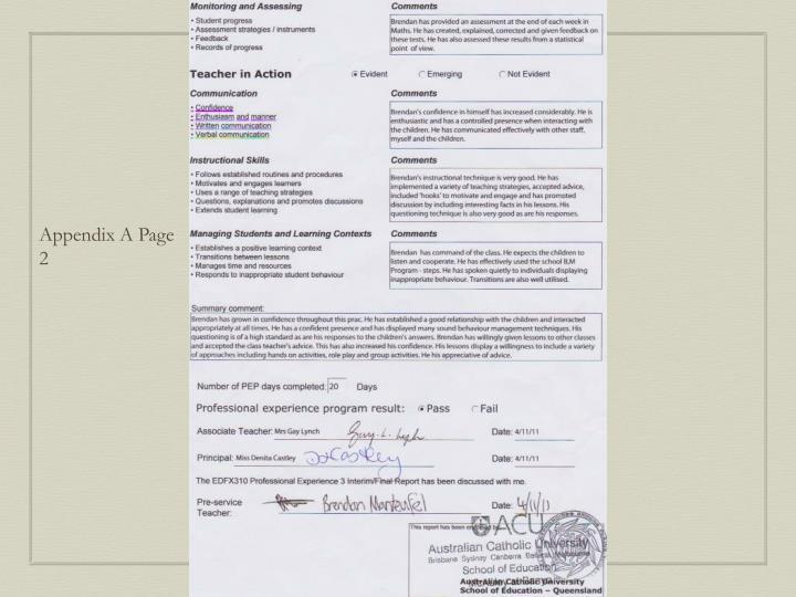 Appendix A Page 2