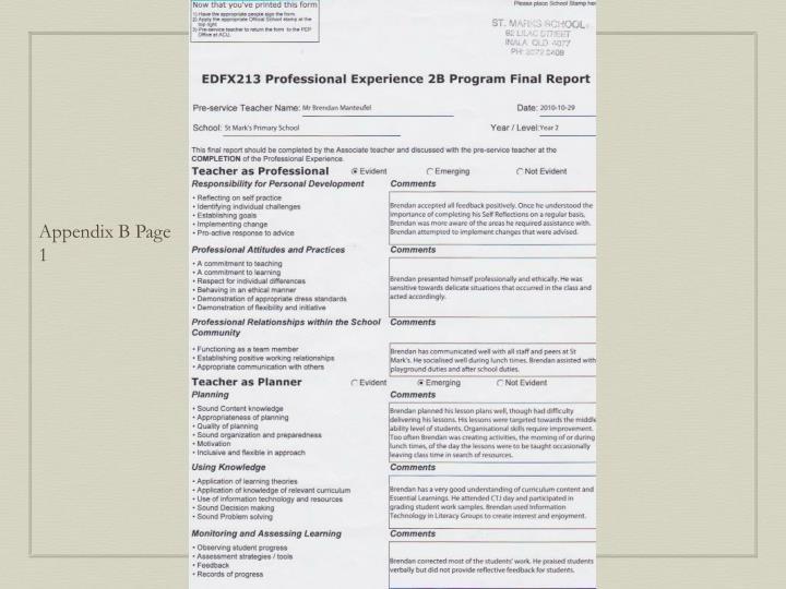 Appendix B Page 1