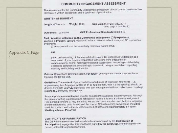 Appendix C Page 1