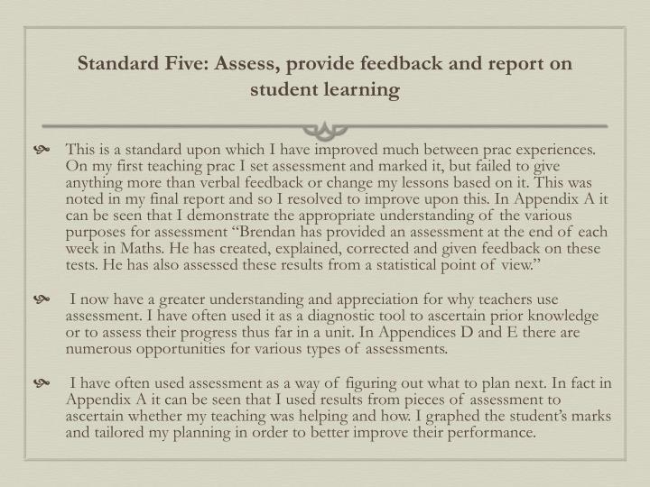 Standard Five: