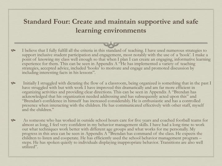 Standard Four:
