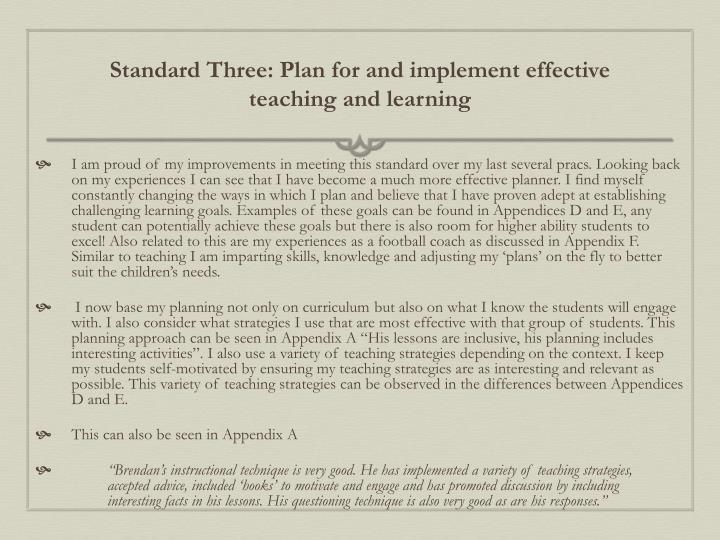 Standard Three:
