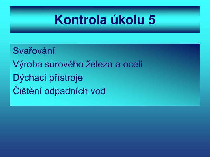 Kontrola úkolu 5