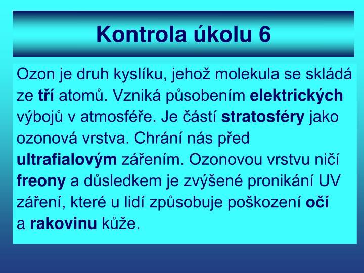 Kontrola úkolu 6