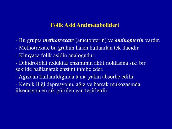 Folik Asid Antimetabolitleri