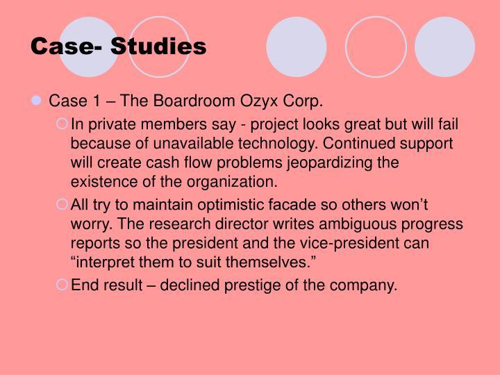 Case- Studies