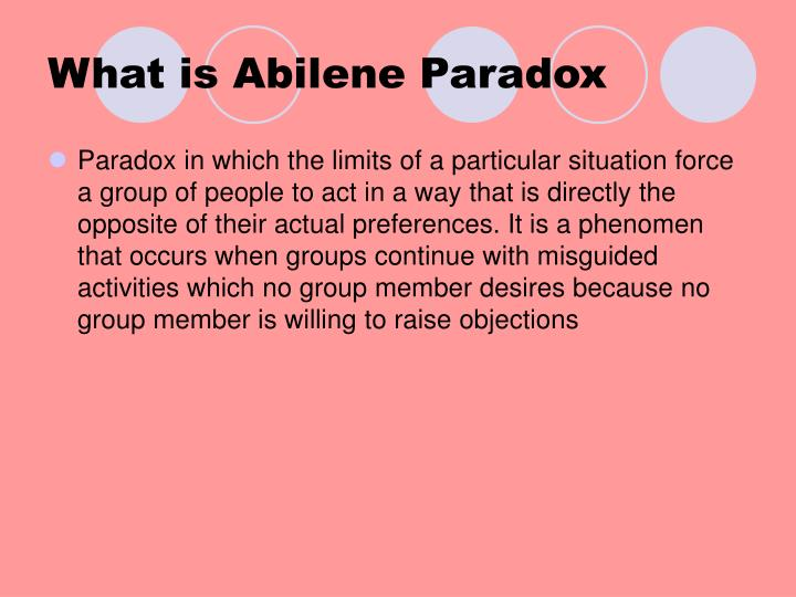 What is abilene paradox