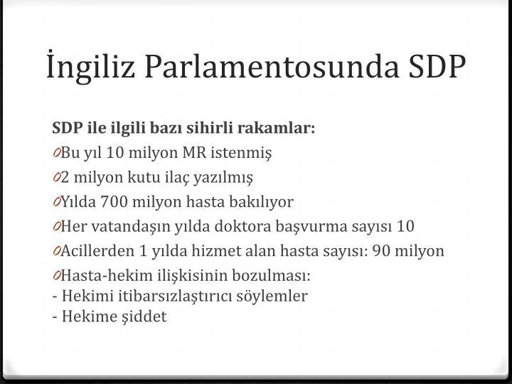 İngiliz Parlamentosunda SDP