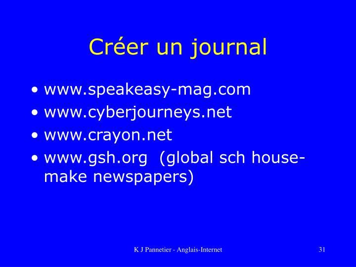 Créer un journal