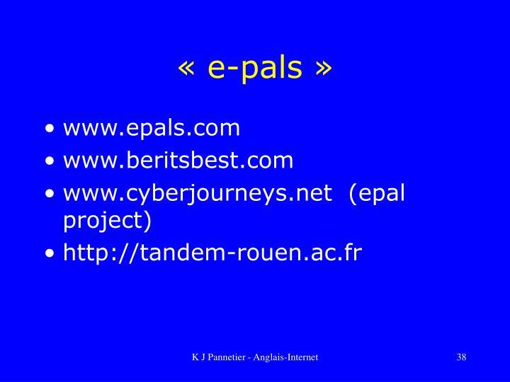 «e-pals»