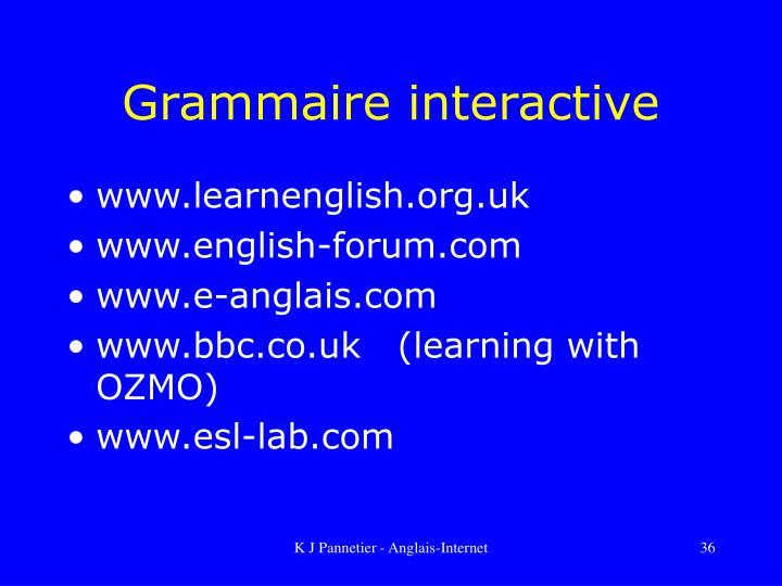 Grammaire interactive