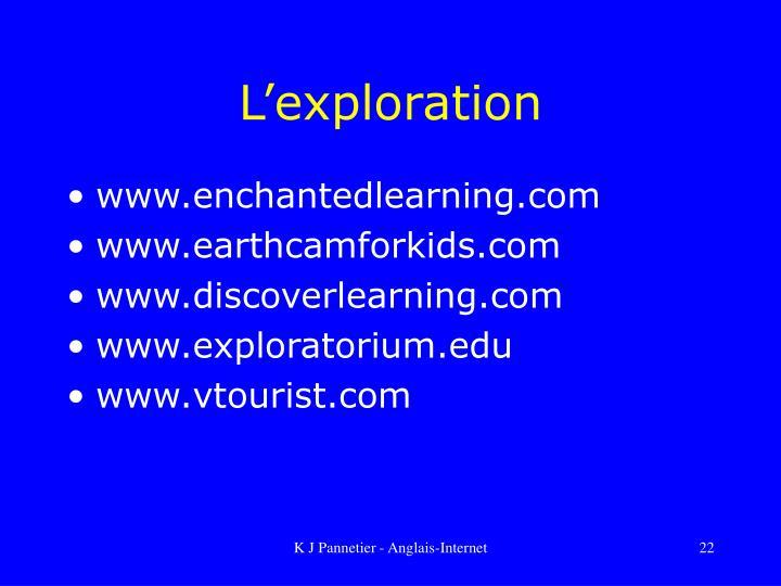 L'exploration