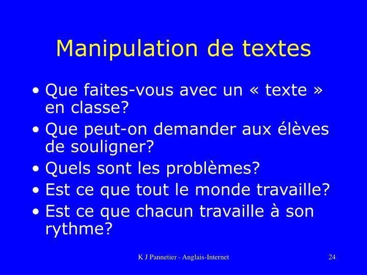 Manipulation de textes