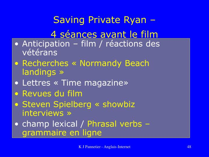 Saving Private Ryan –