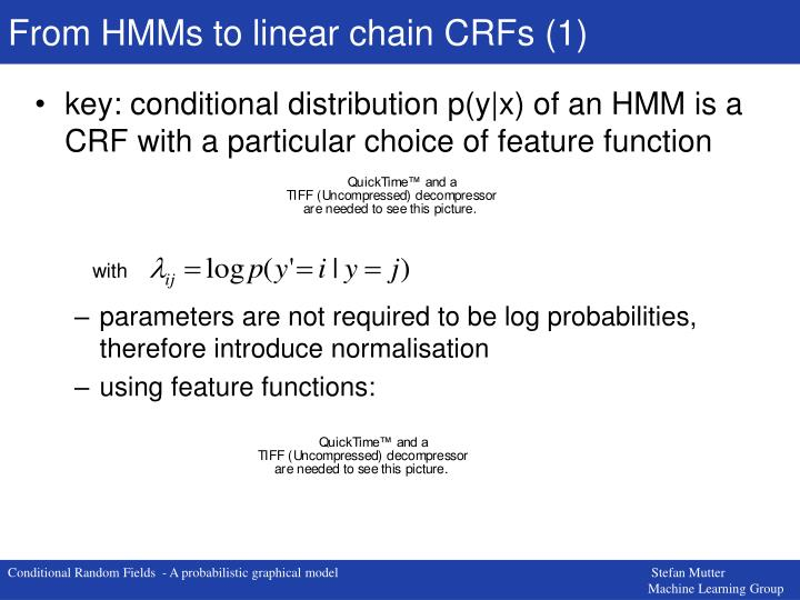 From HMMs to linear chain CRFs (1)