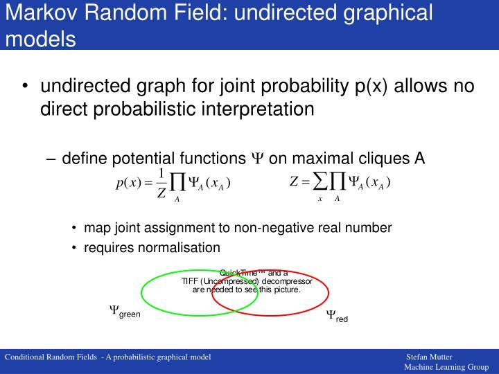 Markov Random Field: undirected graphical models