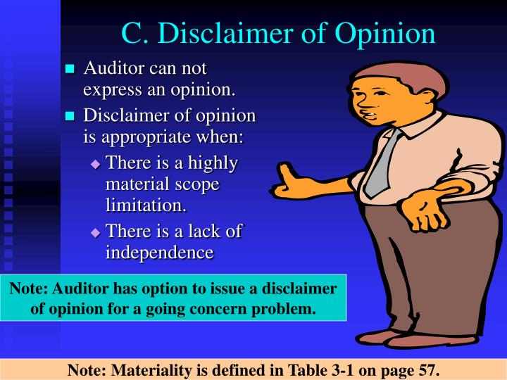 C. Disclaimer of Opinion