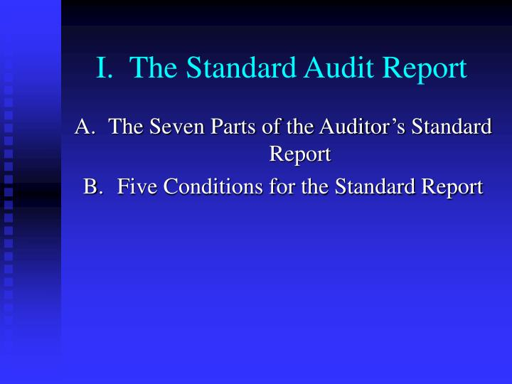 I the standard audit report