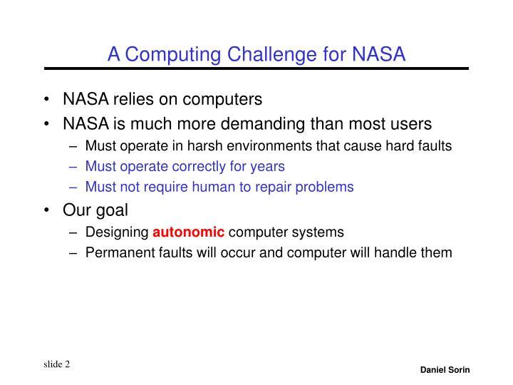A Computing Challenge for NASA