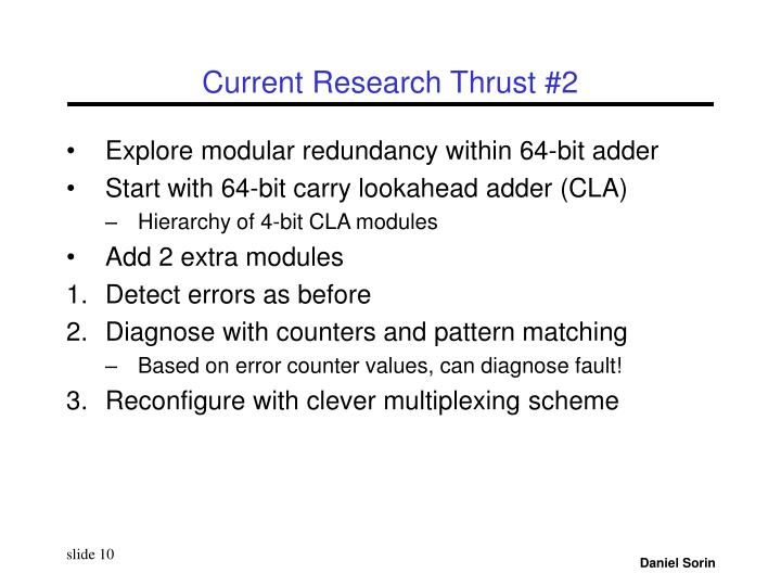 Current Research Thrust #2
