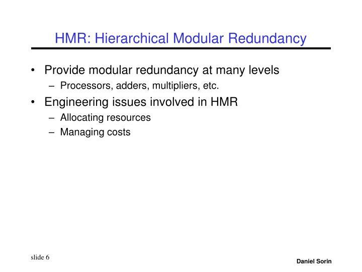HMR: Hierarchical Modular Redundancy