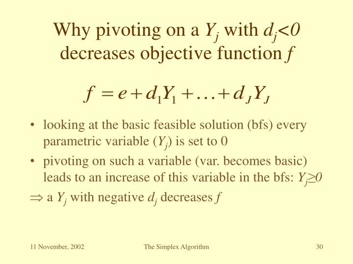 Why pivoting on a