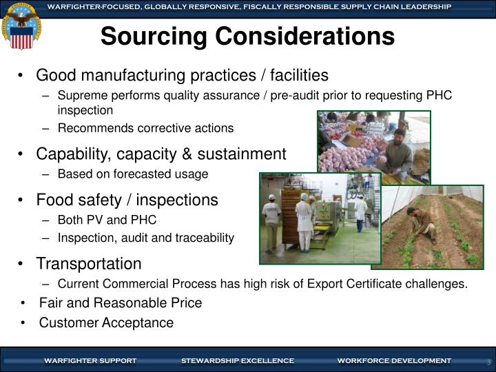 Sourcing Considerations