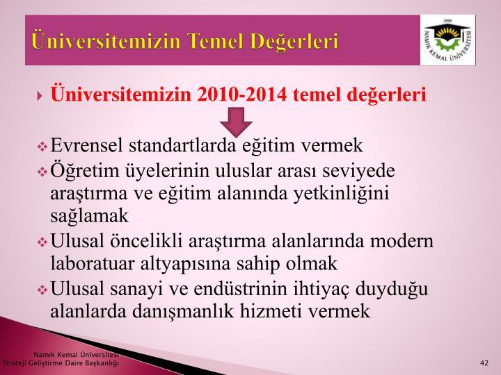 Üniversitemizin Temel Değerleri