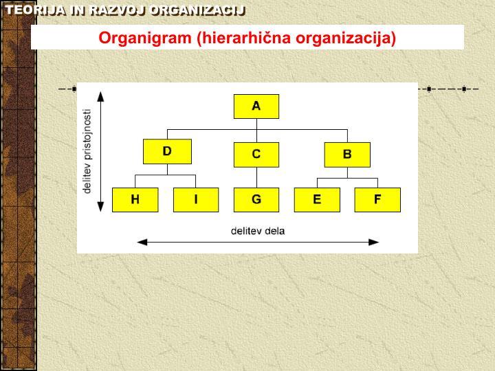 TEORIJA IN RAZVOJ ORGANIZACIJ