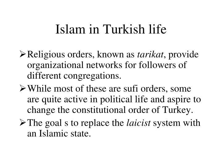 Islam in Turkish life