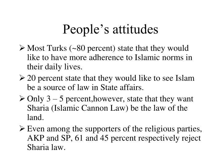 People's attitudes