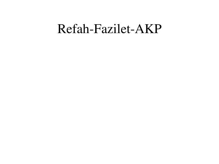 Refah-Fazilet-AKP
